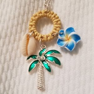 Tropical charm necklace.